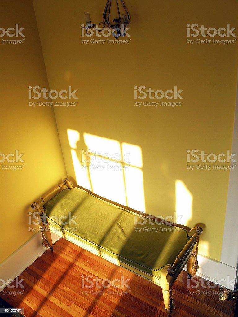 Warm Bench royalty-free stock photo