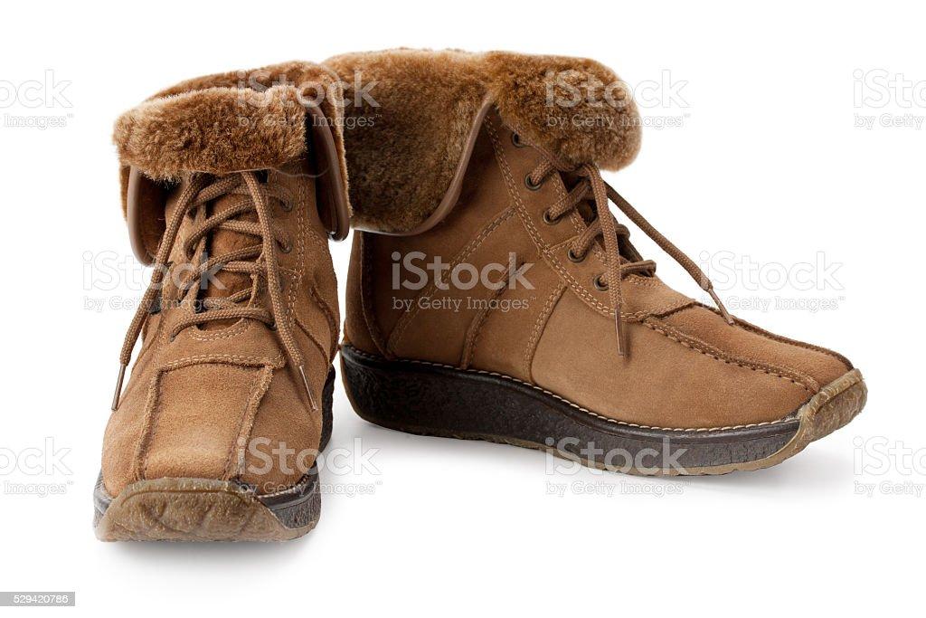 warm boots stock photo