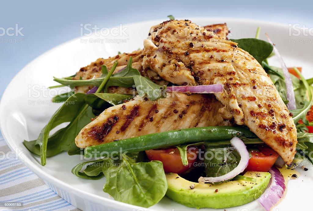 Warm Chicken Salad stock photo