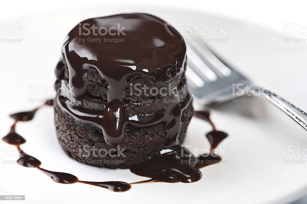 Warm Chocolate Cake stock photo