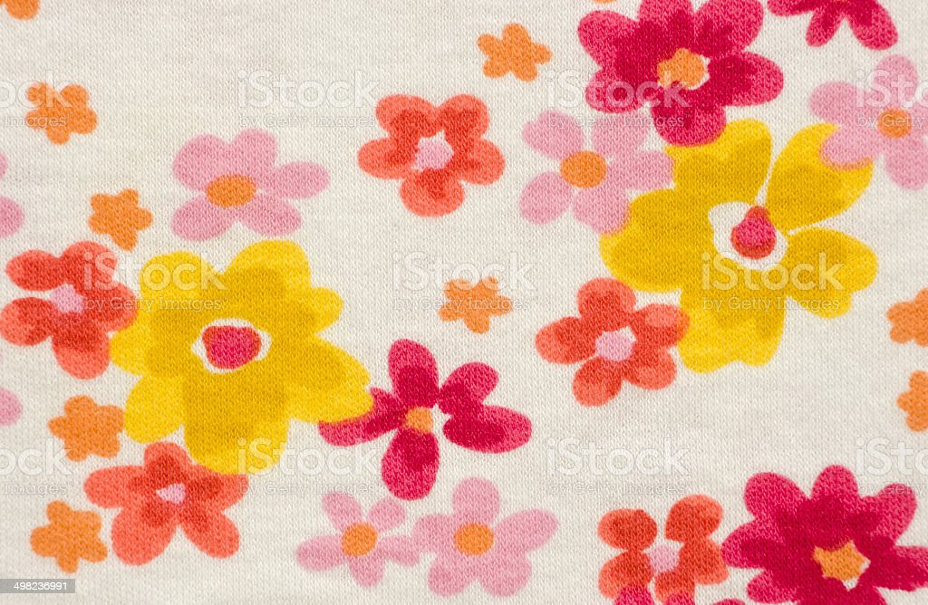 Warm Colored Floral Print royalty-free stock photo