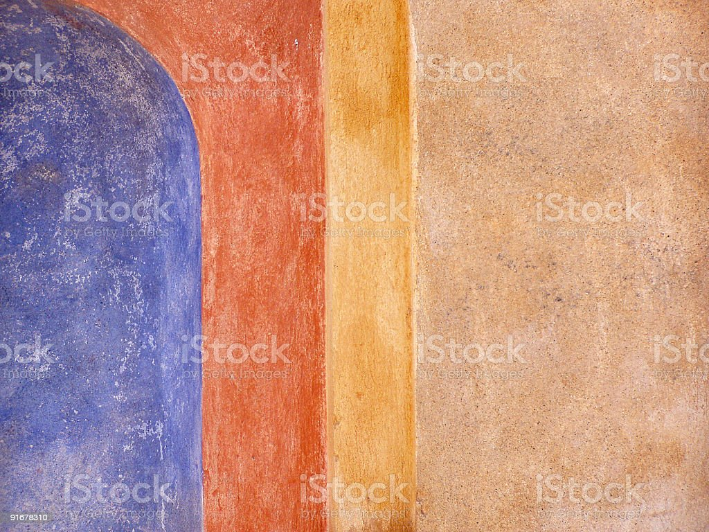Warm colors of the wall royalty-free stock photo