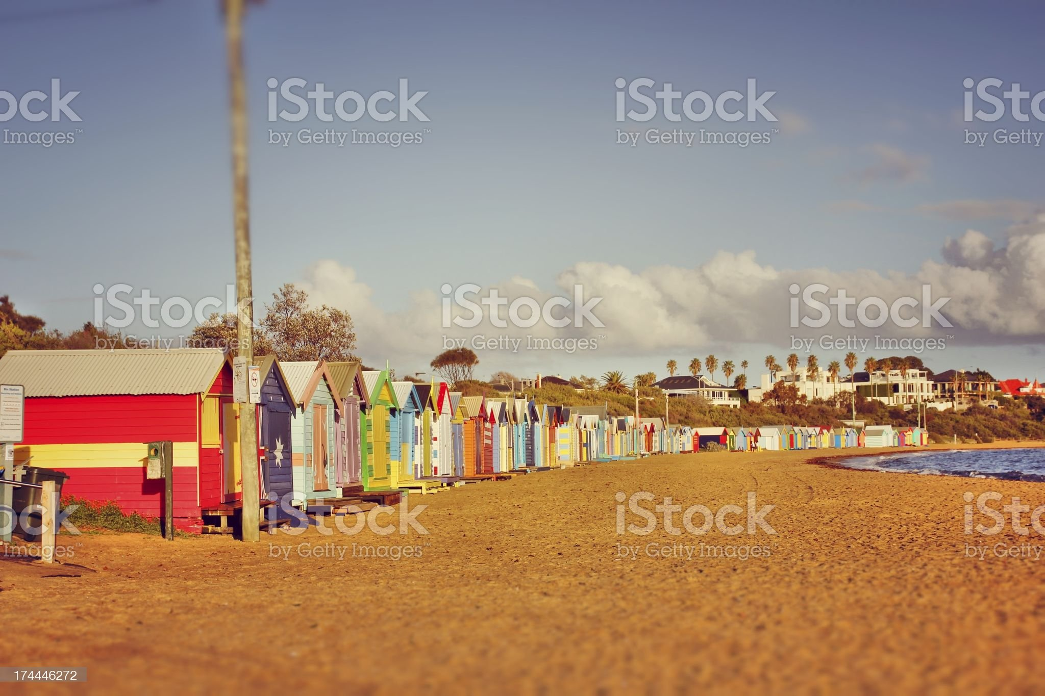 Warm dawn at the beach royalty-free stock photo
