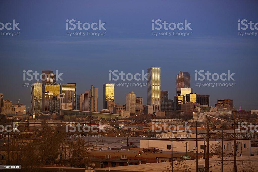Warm Denver Sunset stock photo