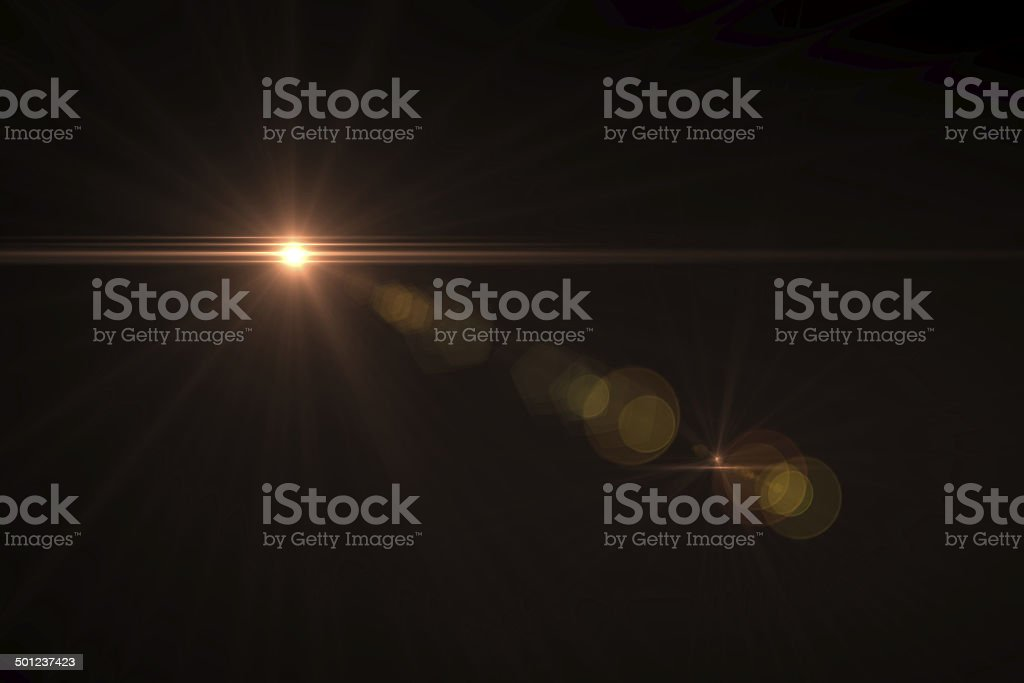 warm digital lens flare stock photo