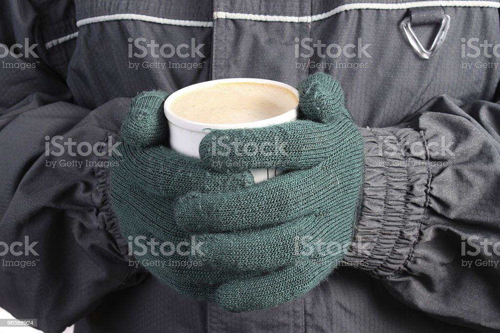 Warm drink in Winter royalty-free stock photo
