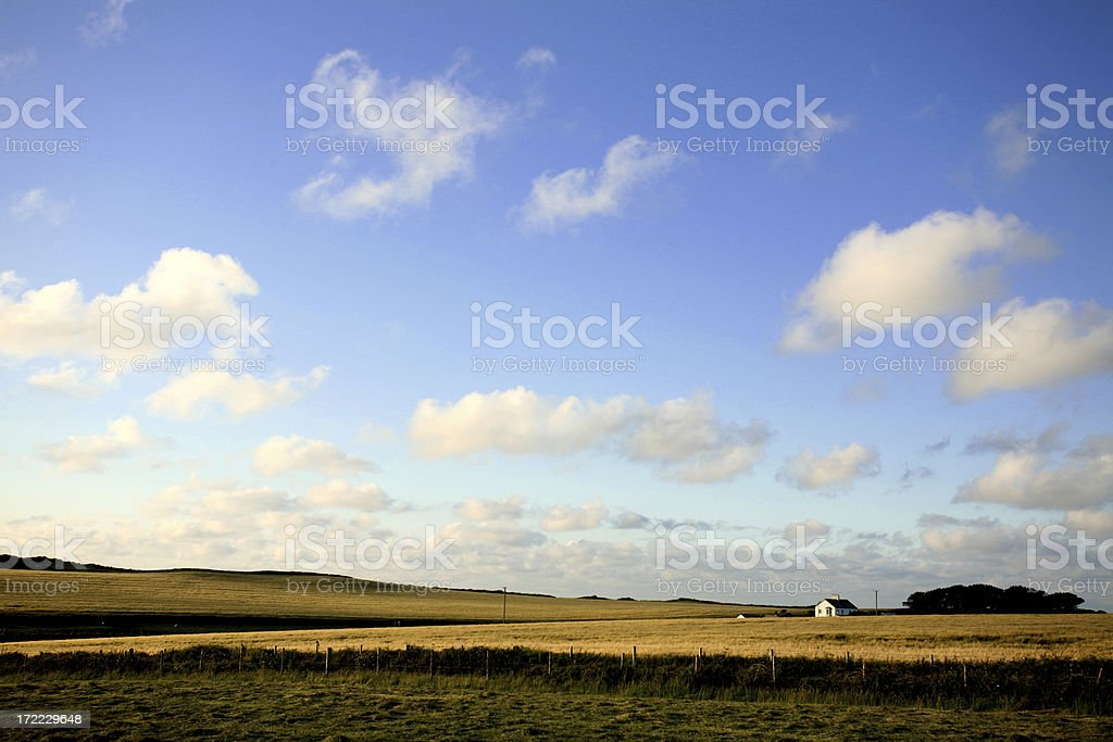 warm evening land scape royalty-free stock photo