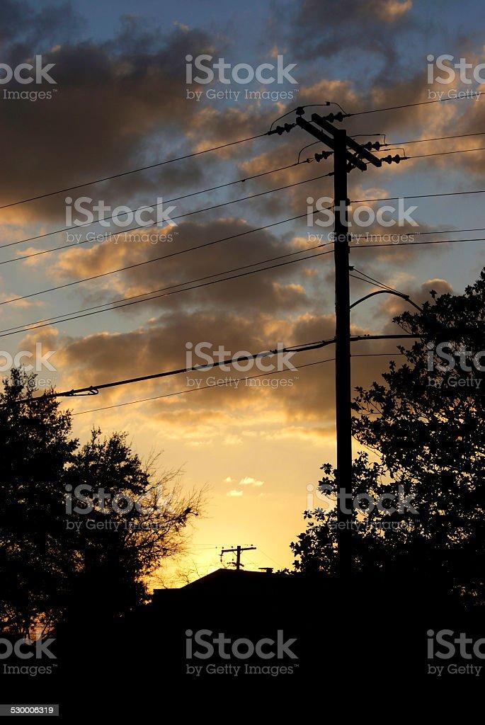 Warm Fall Sunset royalty-free stock photo