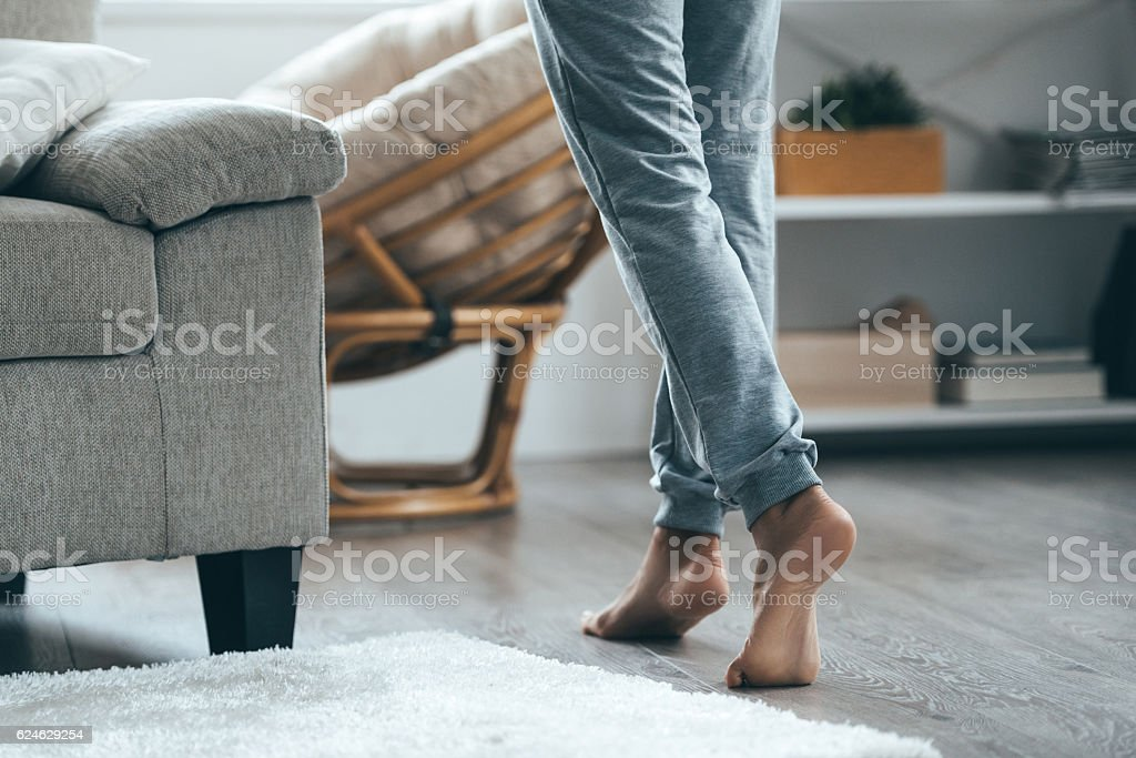 Warm floor concept. stock photo