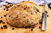 warm, fresh home baked raisin bread