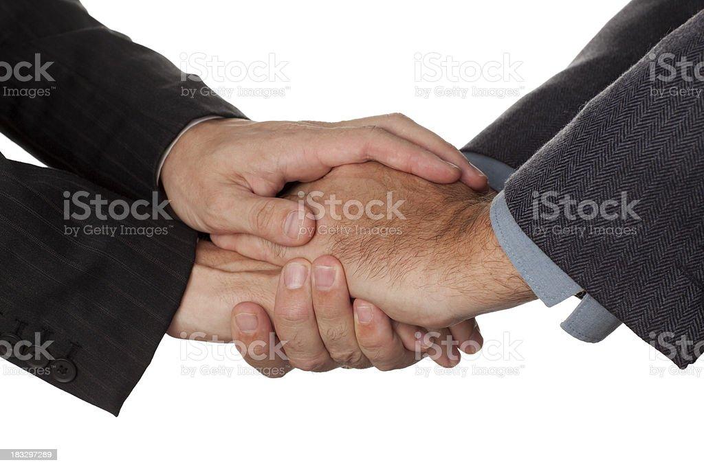 Warm handshake. royalty-free stock photo