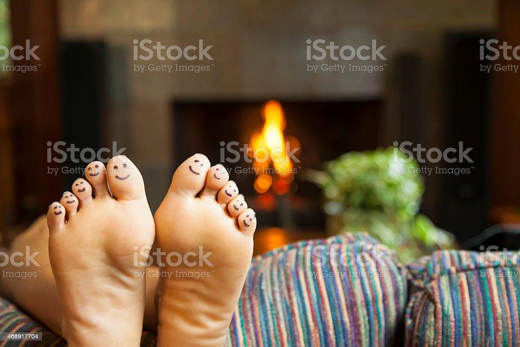 Warm Happy Feet stock photo