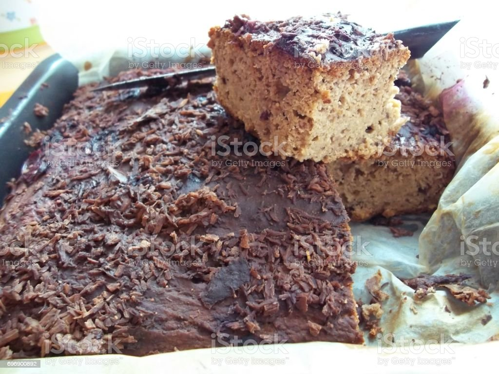Warm homemade bread (bread-cake) stock photo