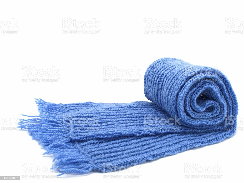 Warm knitted scarf royalty-free stock photo