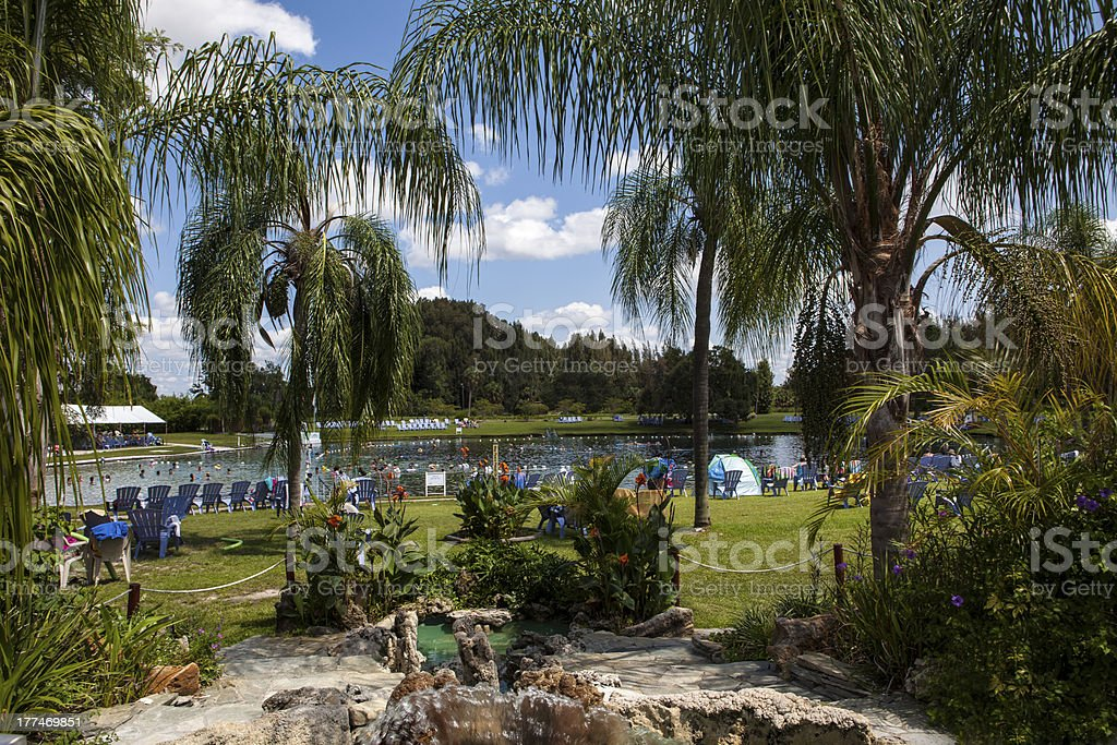 Warm Mineral Springs In North Port, Florida royalty-free stock photo