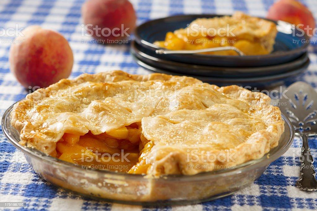 Warm Peach Pie stock photo