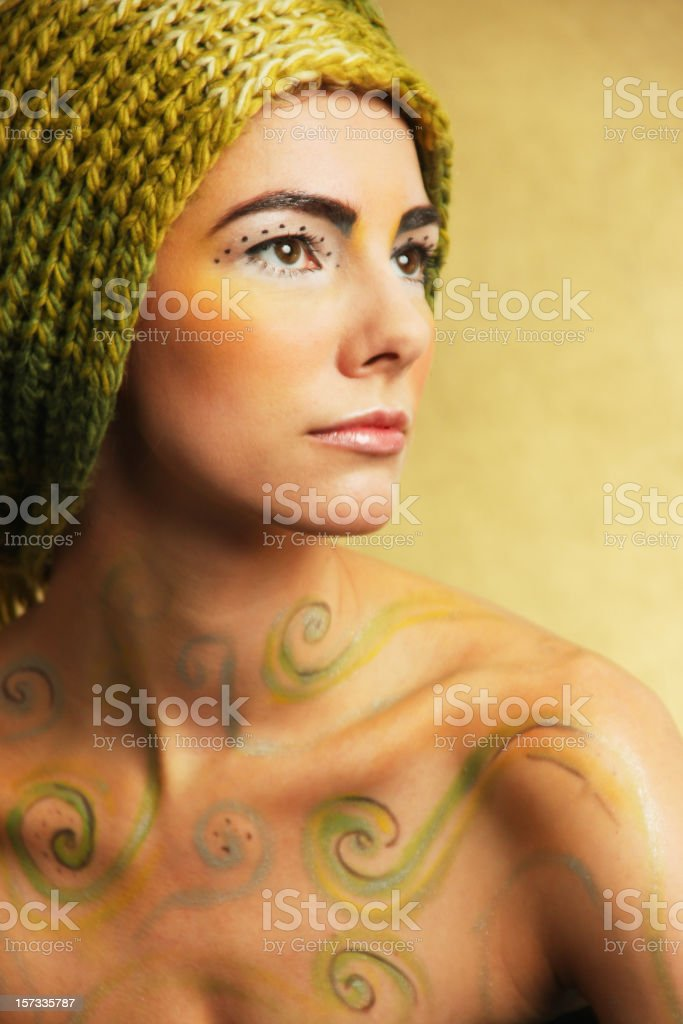 Warm portrait royalty-free stock photo