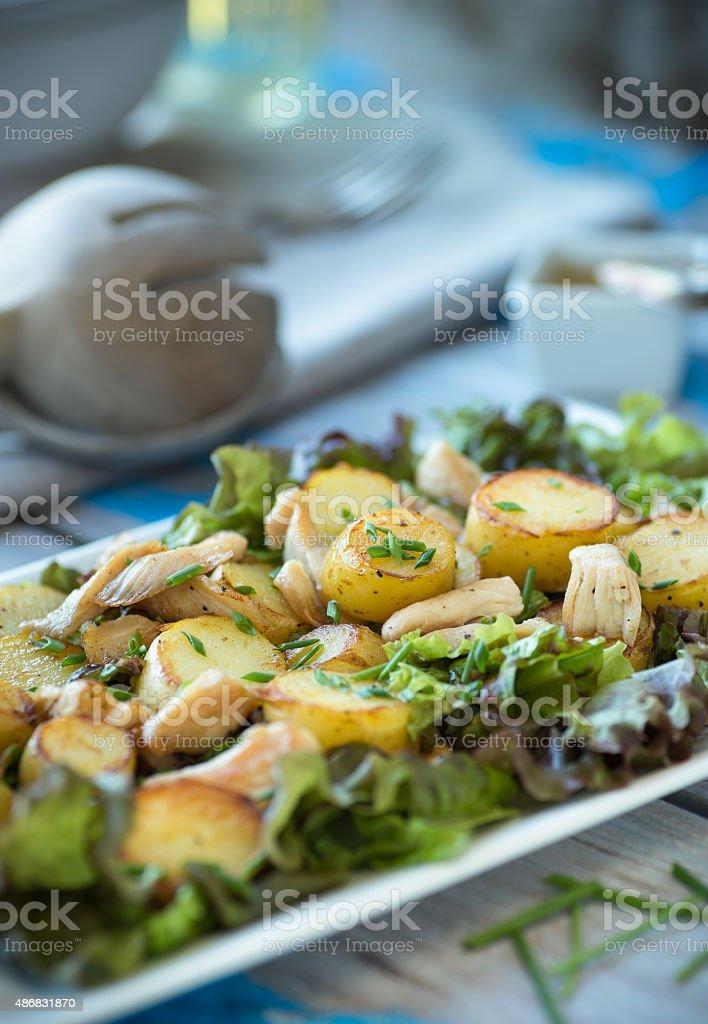 Warm Potato Salad stock photo