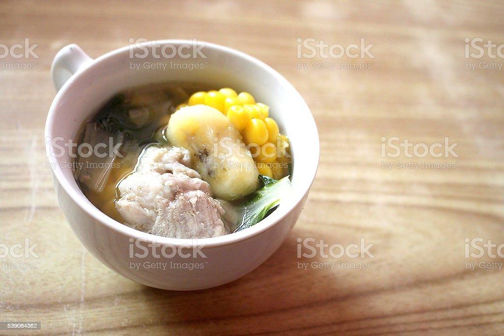 Warm Serving of Pork Nilaga stock photo