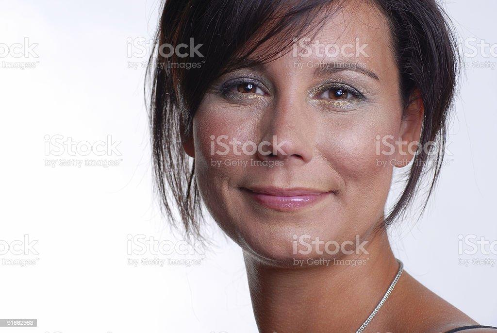 Warm Smile Model stock photo