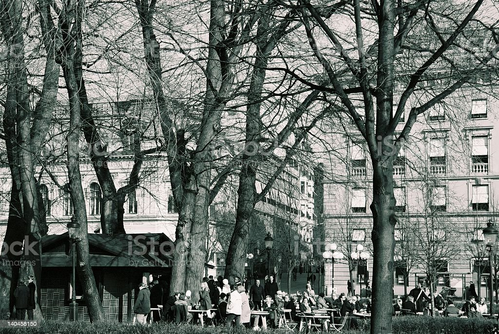 Warm spring day in Stockhom royalty-free stock photo