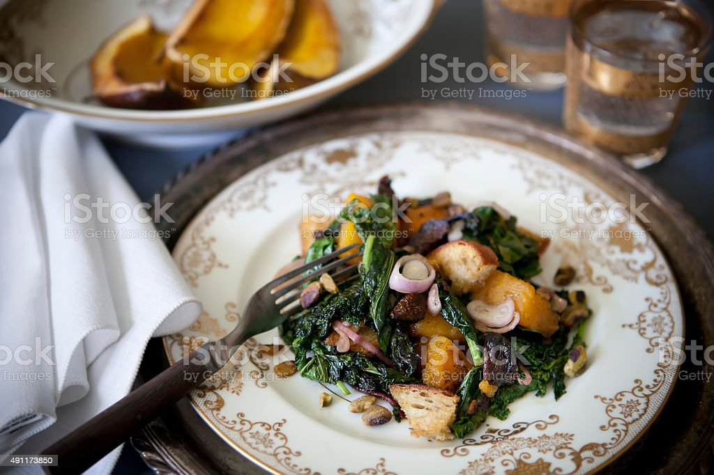 Warm Squash Salad stock photo