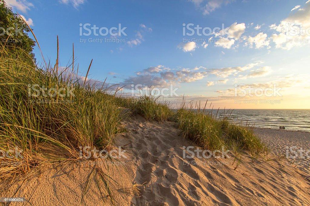 Warm Summer Breeze On The Beach stock photo