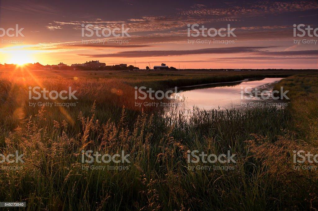 Warm sunrise stock photo