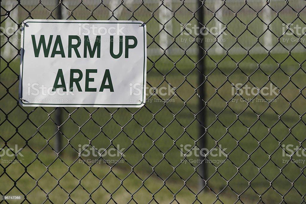 warm up area royalty-free stock photo