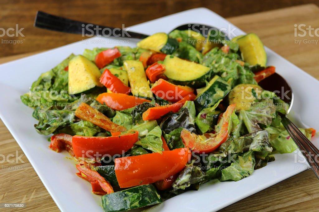 Warm Vegetable Salad stock photo
