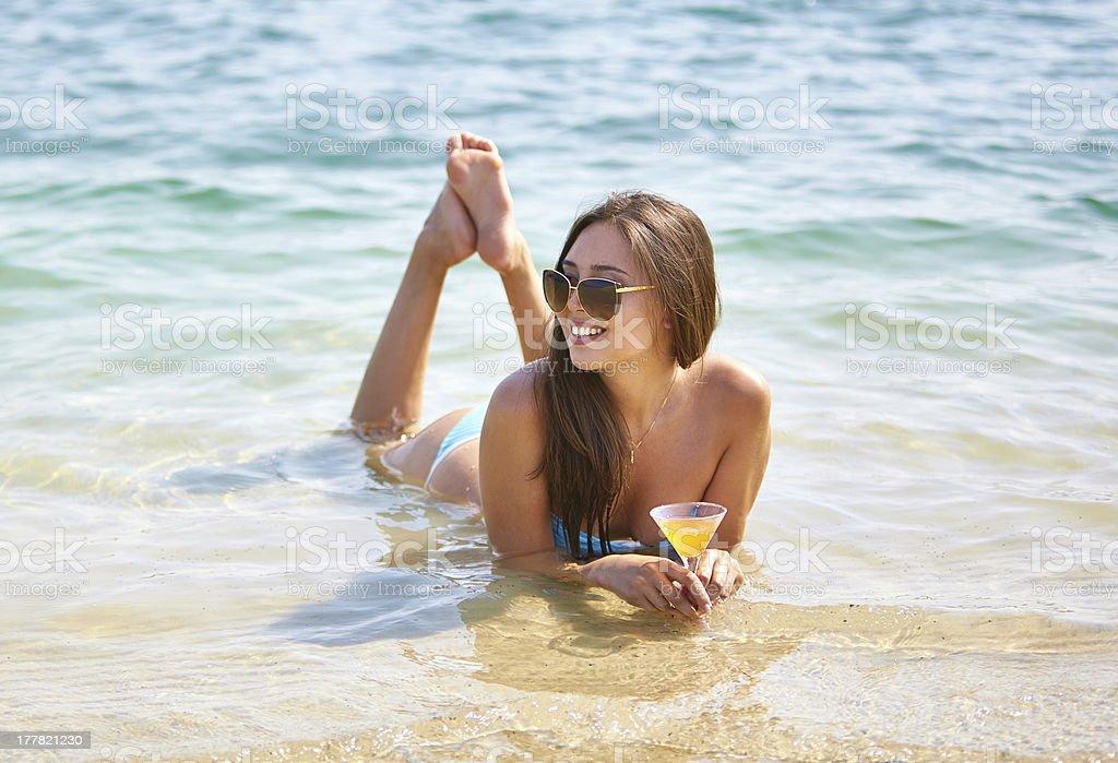 Warm water royalty-free stock photo