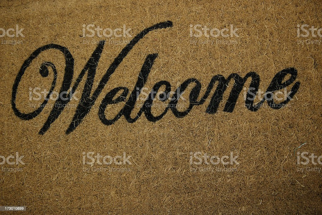Warm Welcome Mat royalty-free stock photo