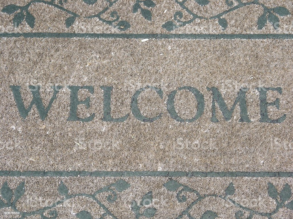 A Warm Welcome Mat royalty-free stock photo