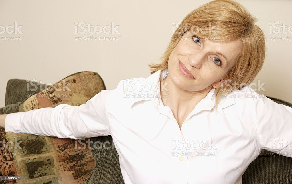 warm welcome  - middle aged royalty-free stock photo