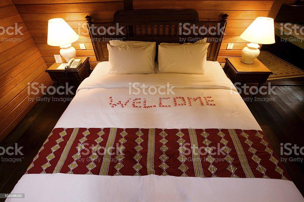 Warm welcome stock photo