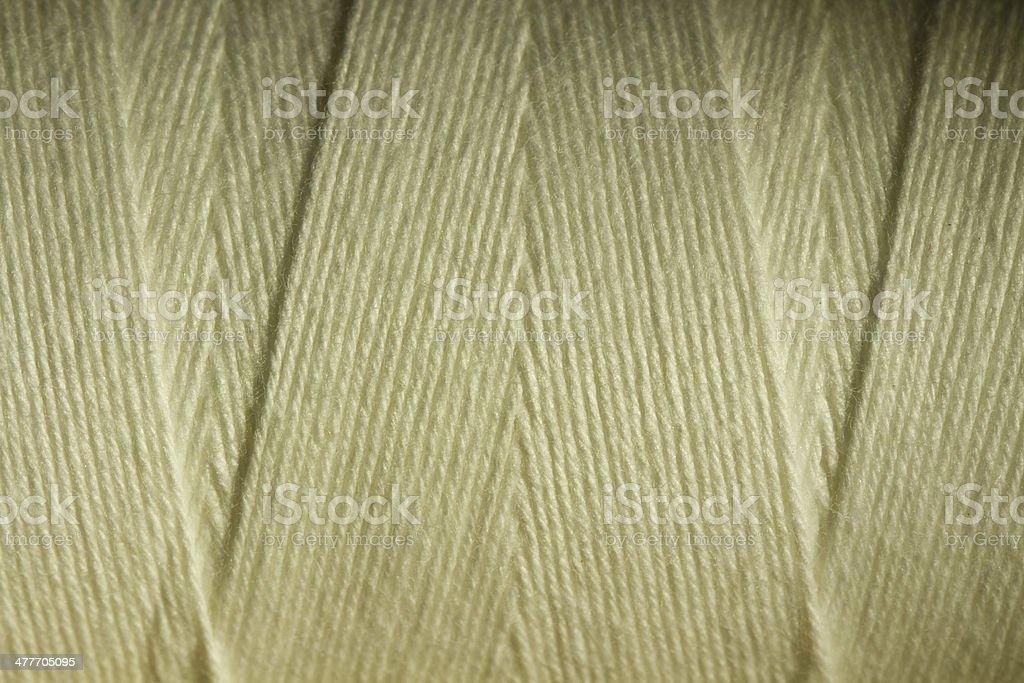 Warm White spool of thread royalty-free stock photo