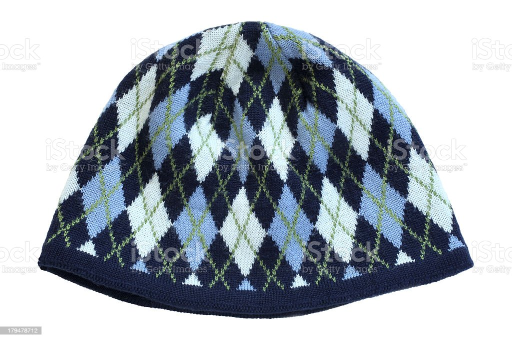 Warm woolen knitted hat royalty-free stock photo