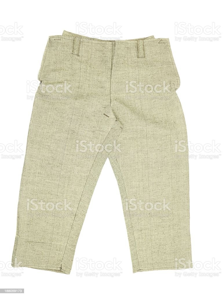 Warm yellow short pants stock photo