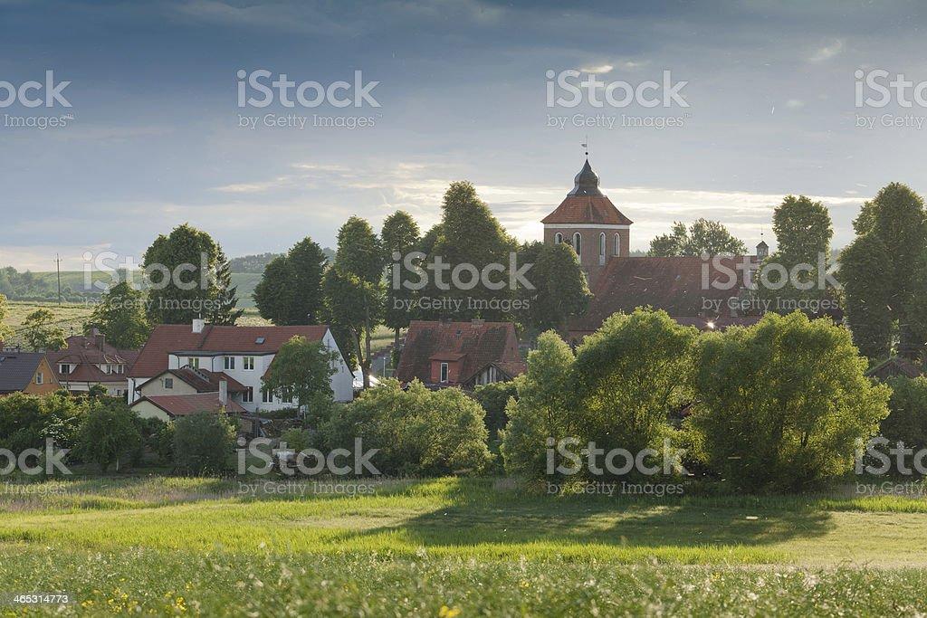 Warmian village stock photo
