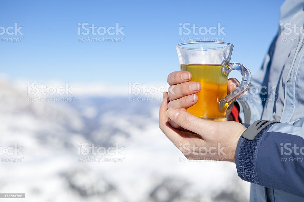 Warming cup of tea royalty-free stock photo