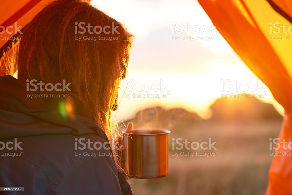 Warming drink stock photo