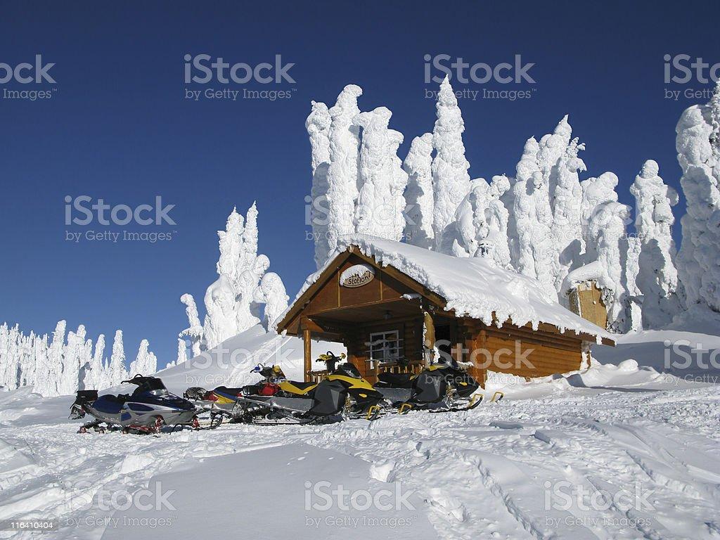 warming hut royalty-free stock photo