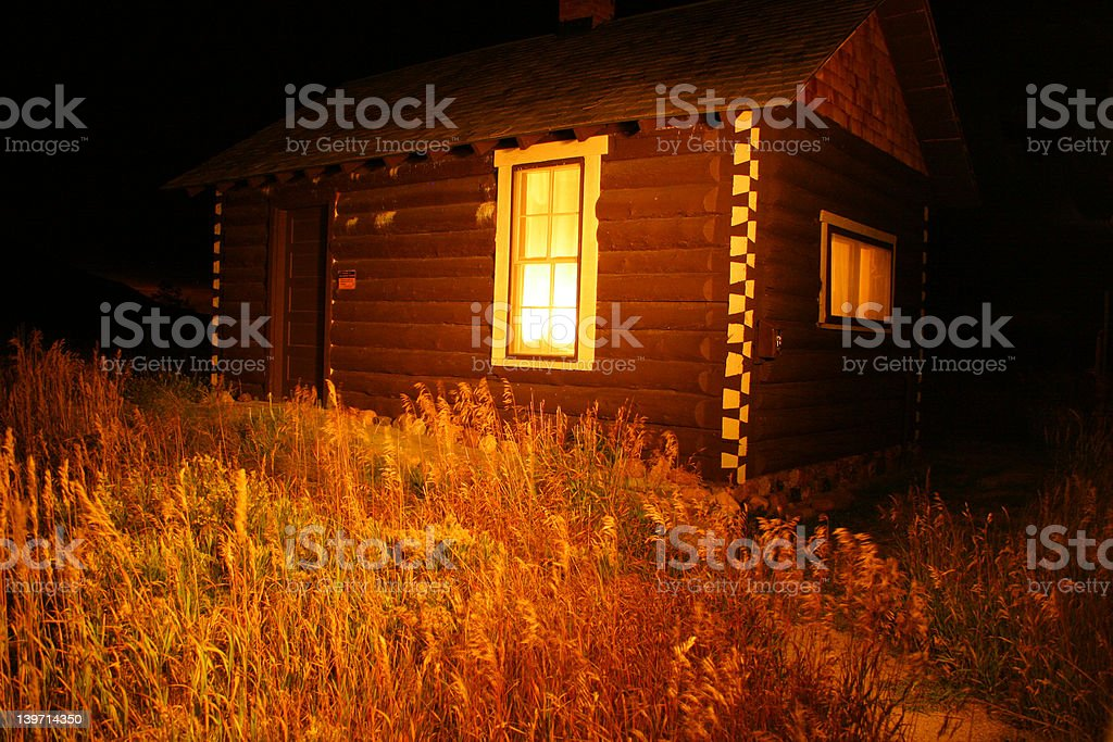 Warming Hut royalty-free stock photo