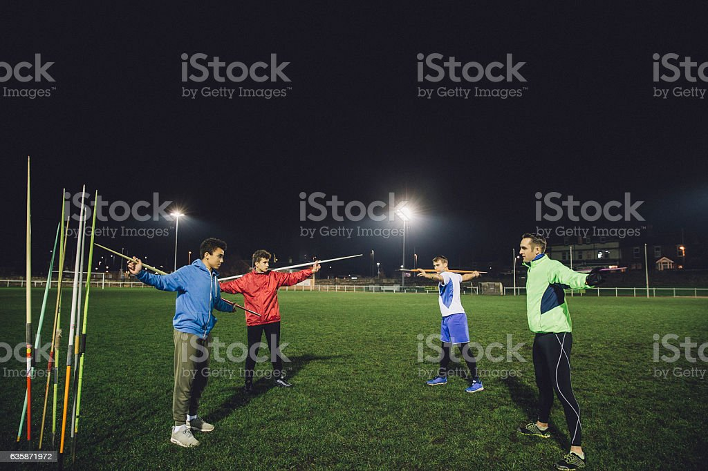 Warming Up Before a Training Session stock photo