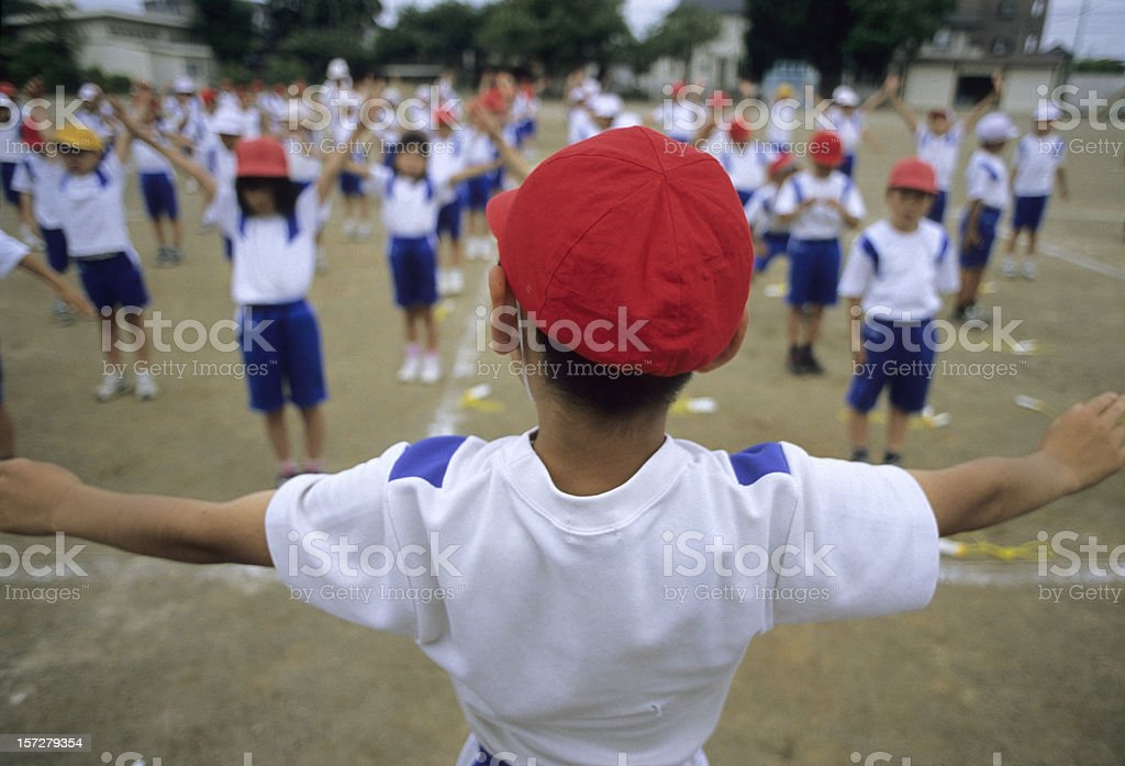 Warming Up royalty-free stock photo