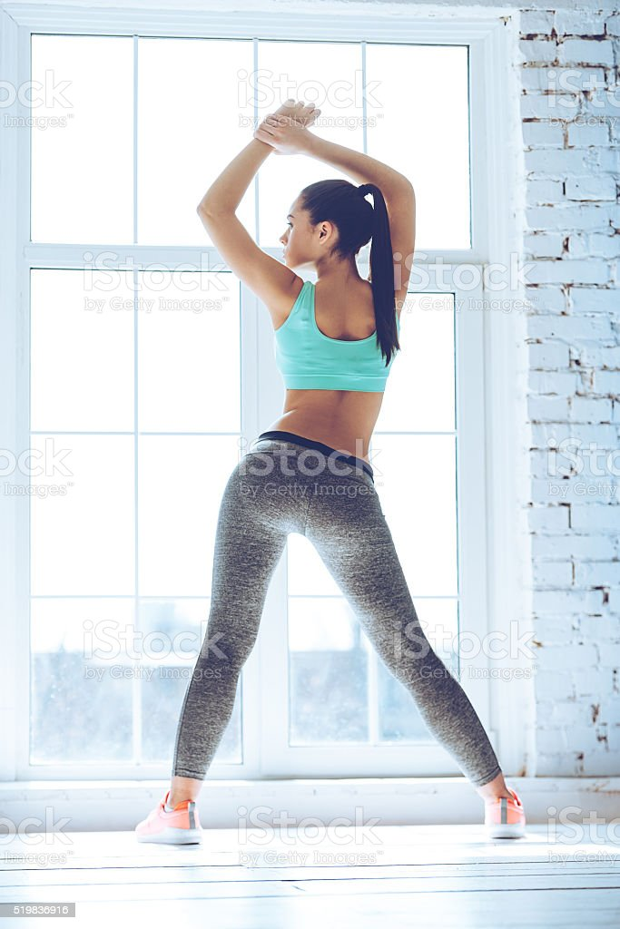 Warming up. stock photo
