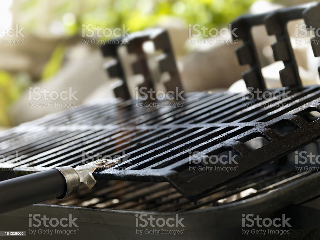 Warming up the BBQ stock photo