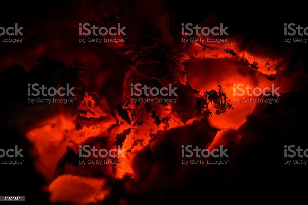 Warming up the cold winter nights. stock photo