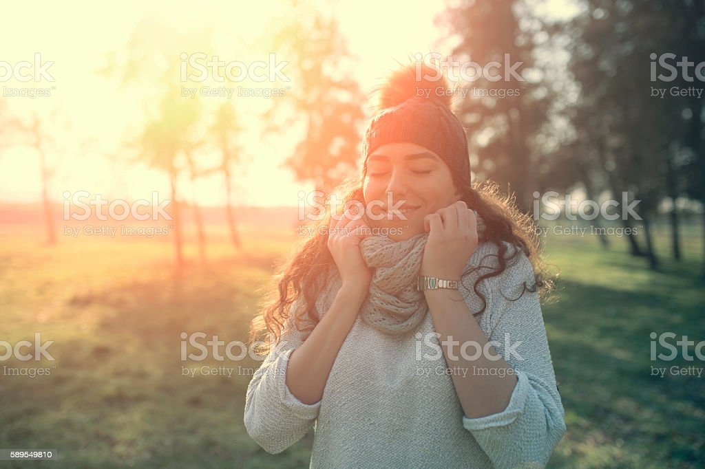 Warmth and happy stock photo
