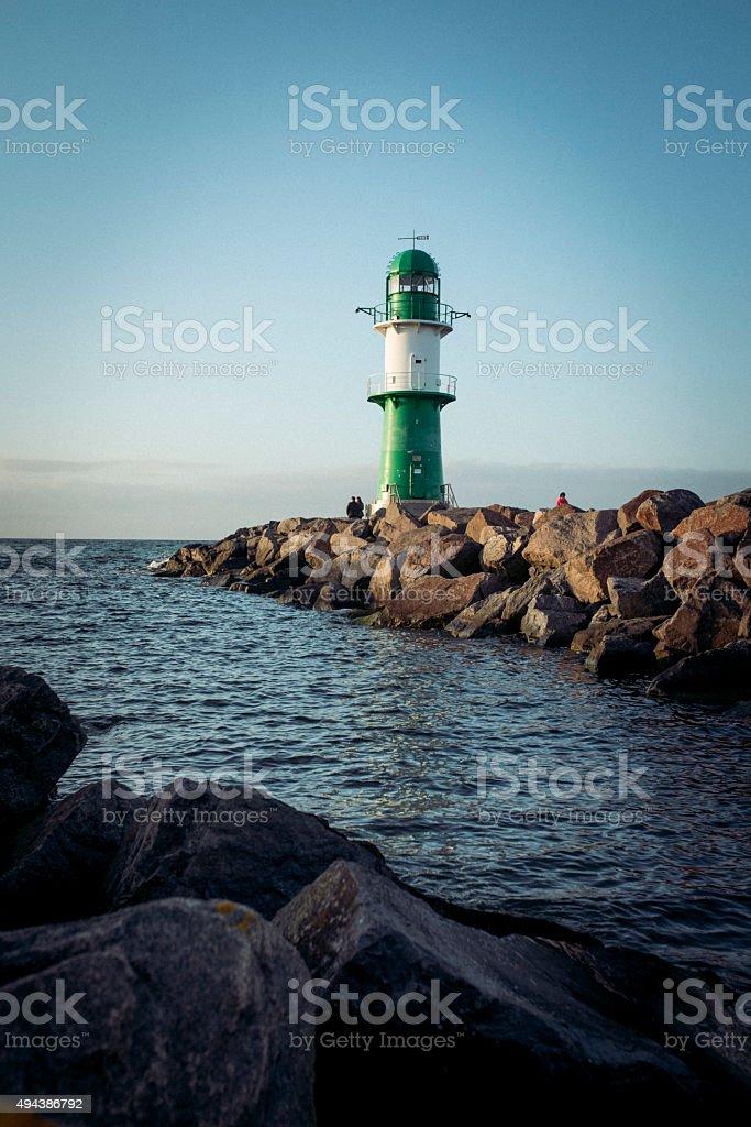 Warnemünde Leuchtturm stock photo